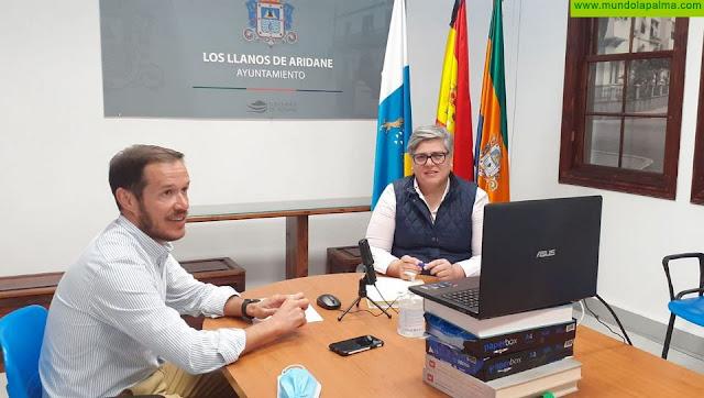 Mariano H. Zapata aborda la evolución de las obras con cargo al Fdcan con el Ayuntamiento de Los Llanos de Aridane