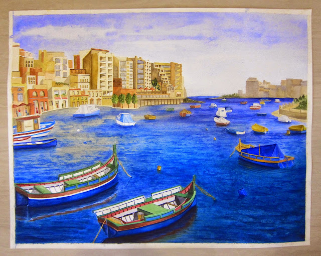Painting of Malta by Cindy Hernandez