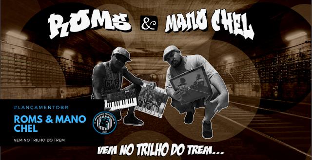 """No melhor estilo baile black, Roms e Mano Chel lançam o clipe """"Vem No Trilho Do Trem"""""""