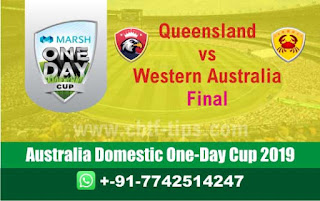 Who will win Today Marsh One Day Cup, Final Match WAU vs QUN - Cricfrog