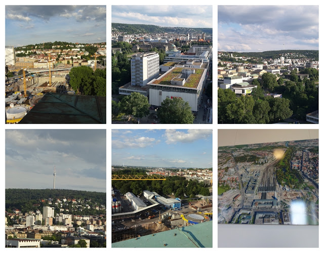 Mirantes e vistas panorâmicas de Stuttgart - Torre da Hauptbahnhof