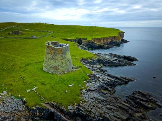 シェットランド,モーサ島のブロッホ