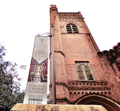 Christ Church Cathedral Tower with Banner