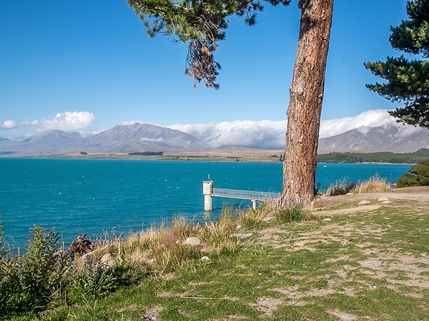 Lake Tekapo is one of New Zealand's sunniest places
