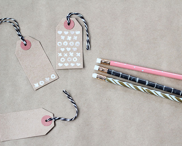 Get crafty & stamp up a storm with stamps you've carved yourself from the tip of a pencil eraser!