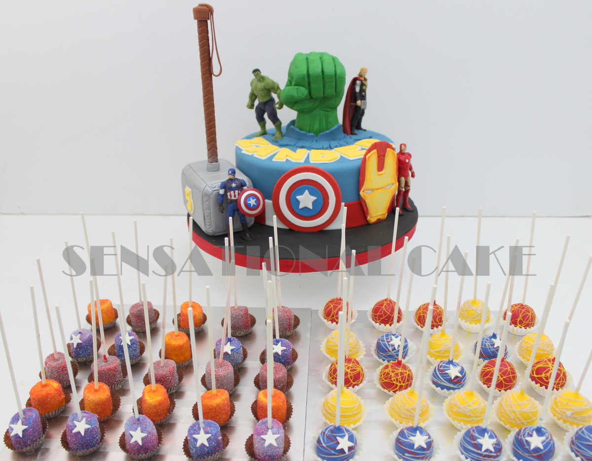 The Sensational Cakes Avenger Dessert Table Pastries