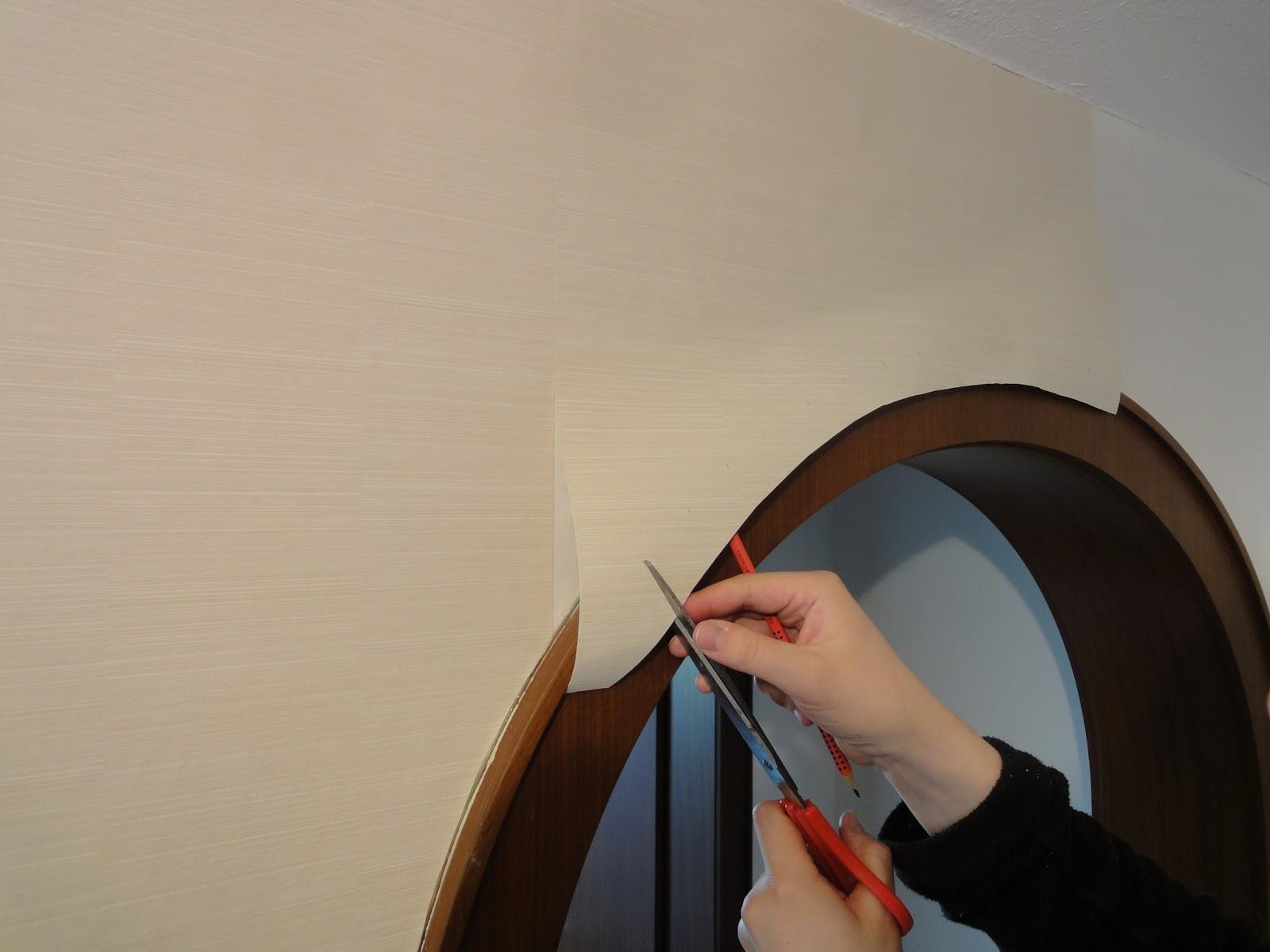 crafts co diy einen t rbogen tapezieren. Black Bedroom Furniture Sets. Home Design Ideas