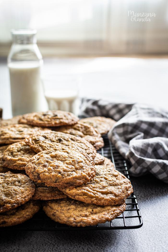 Cookies de avena, coco y chocolate.