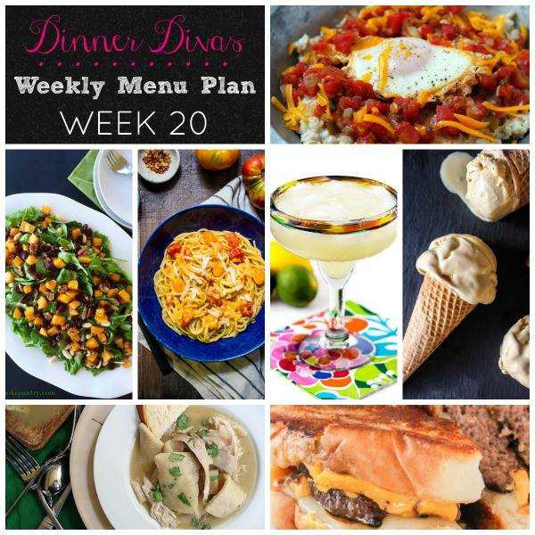 The #DinnerDivas weekly menu plan features (mostly) healthy, seasonal foods that don't take all day to prepare.