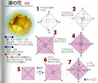 Origami Flower Vase Diagram
