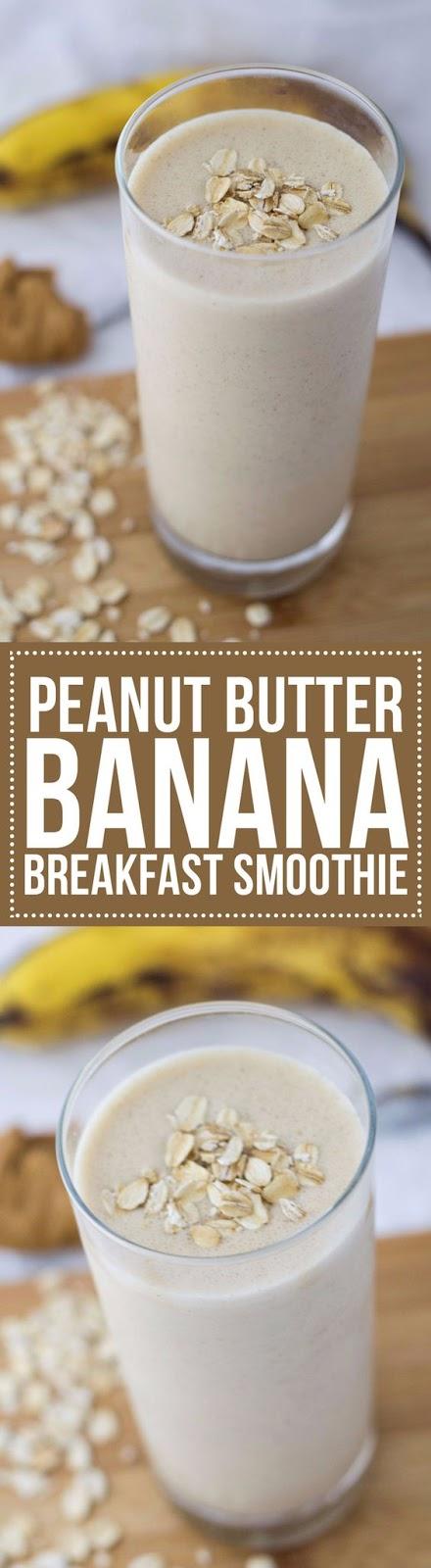 Peanut Butter Banana Breakfast Smoothie