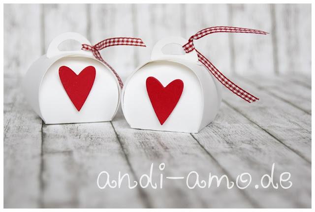 Mini-Zierschachtel Gäste Goodie mit Herz