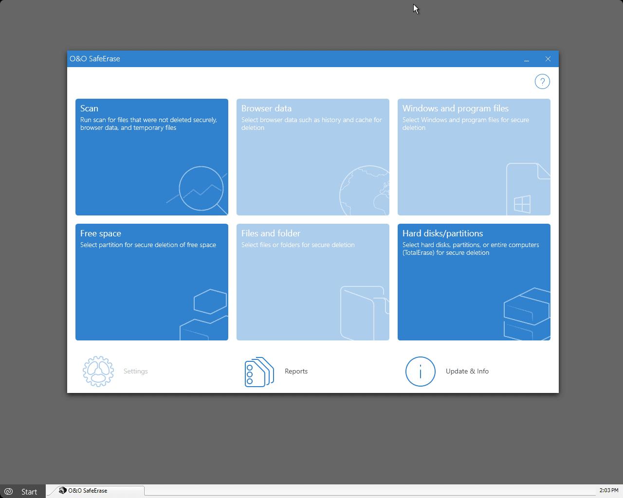 O&O BlueCon SafeErase Screenshot