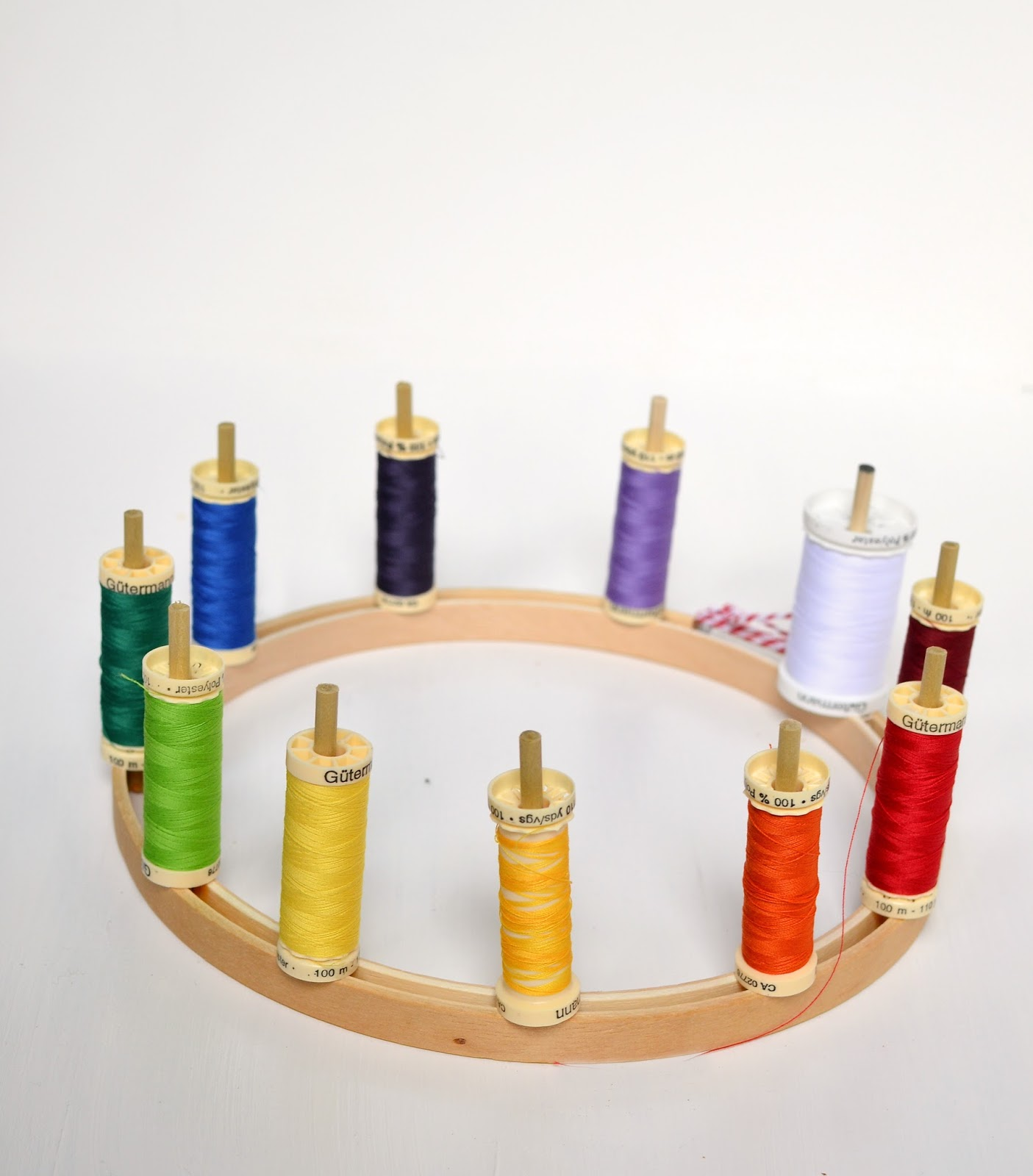 embroidery hoop thread organizer