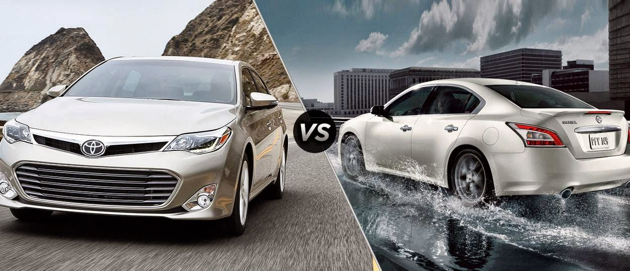 2015 Toyota Avalon Vs 2015 Nissan Maxima Competition