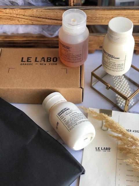 Le labo: шампунь, кондиционер для волос и гель для душа.