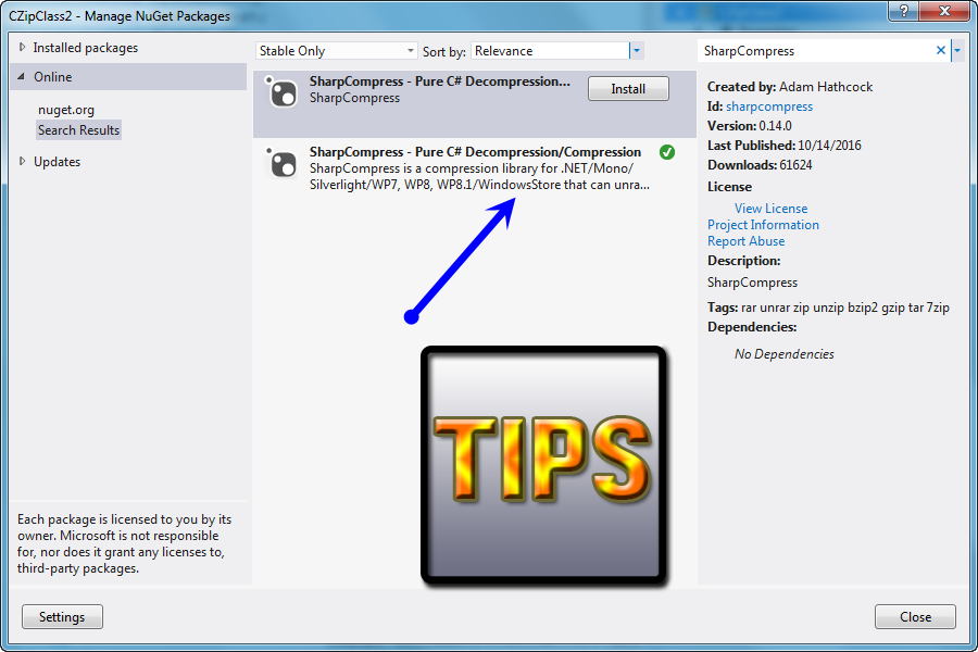 Tips] How to extract TGZ, TAR GZ by SharpCompress C# - Learn