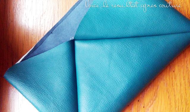 DIY-Pouch-greenwhite-leather-pochette-simili-cuir-blancvert