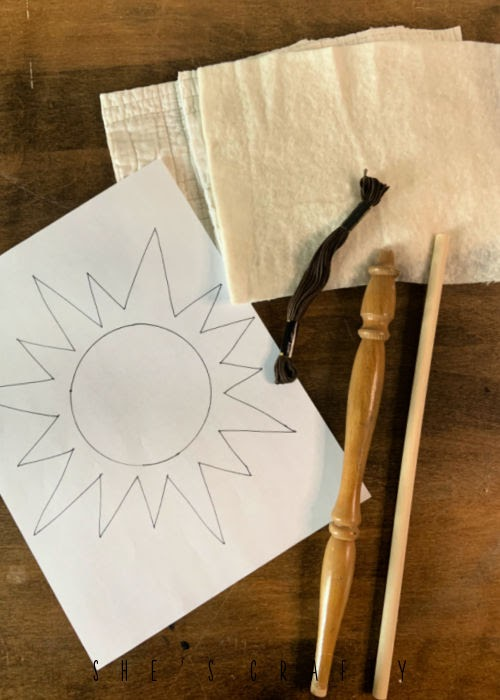 Supplies Needed to make rustic sunflowers.