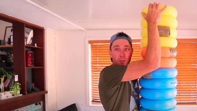 pool noodle punching bag