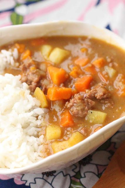 curry legumes viande hachee