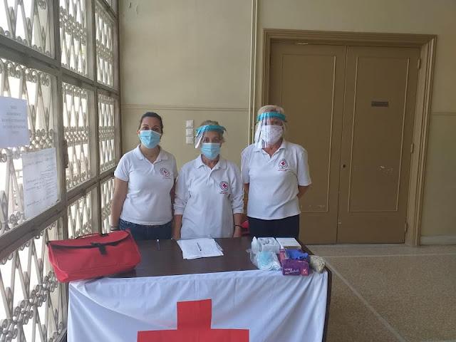 Πρόγραμμα θερμομέτρησης στο Ειρηνοδικείο Άργους από τον Ερυθρό Σταυρό Άργους