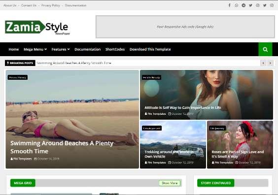 Blogger Template Zamia Style