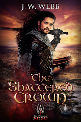 The Shattered Crown by J.W. Webb book cover