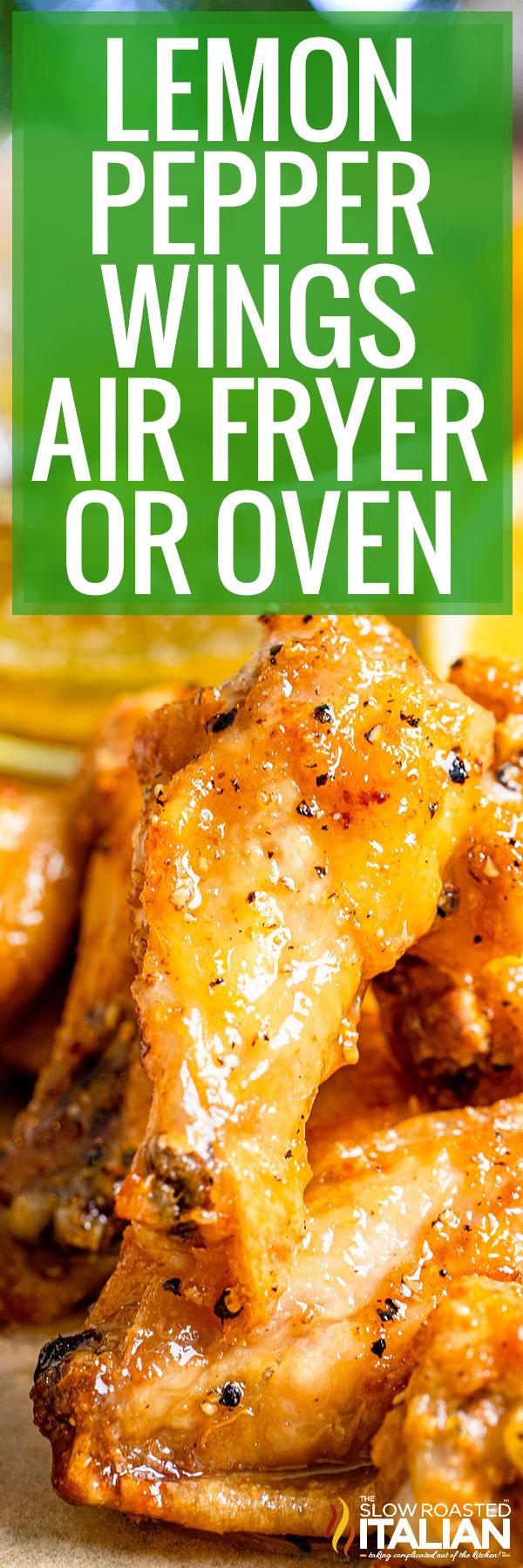 Easy Air Fryer Lemon Pepper Wings Recipe Food Is Four Letter Word
