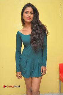 Telugu Actress Prasanthi Stills in Green Short Dress at Swachh Hyderabad Cricket Press Meet  0034.JPG