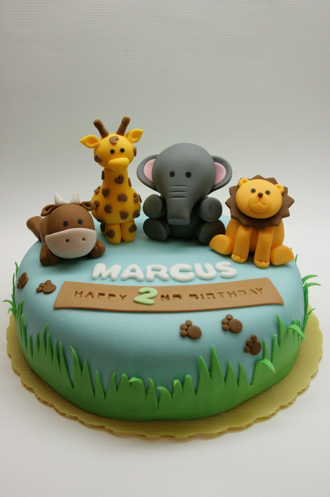 Beautiful Kitchen Safari Animal Cake For Marcus S 2nd
