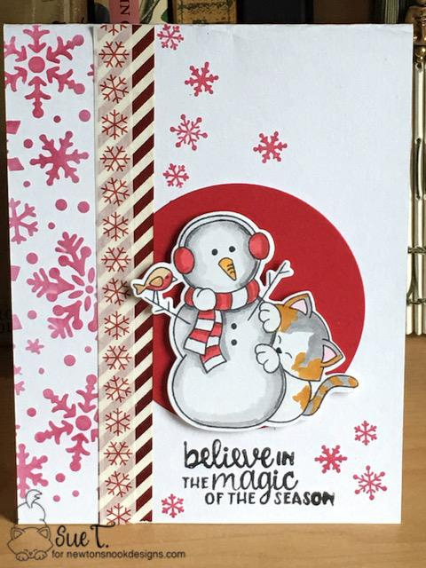 Believe in the magic of the season by Sue T. features Snowfall, Newton's Curious Christmas, and Winter Memories by Newton's Nook Designs; #newtonsnook