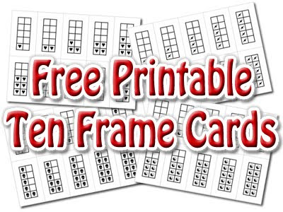 Spinner\u0027s End Primary (at The Linton Academy) Printable Ten Frame Cards