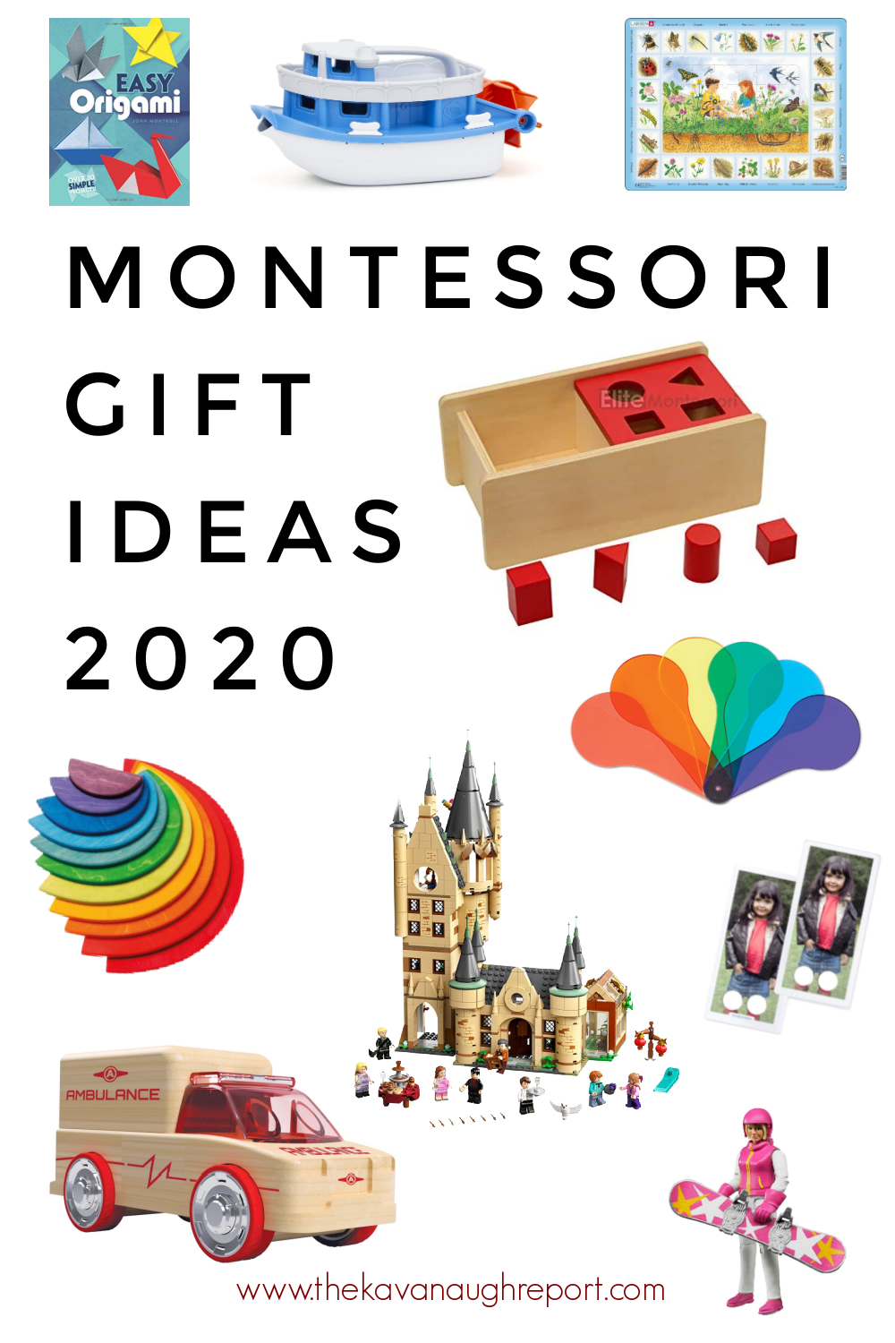 Montessori friendly toy gift list for toddlers, preschoolers and elementary age. Fun and easy Montessori toys for kids.