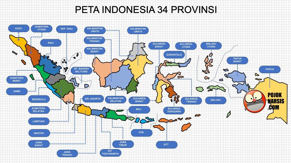 Provinsi kalimantan utara yang beribukota di. Template Peta Indonesia Ppt Hd High Definition Atau High Resolution Pojok Narsis