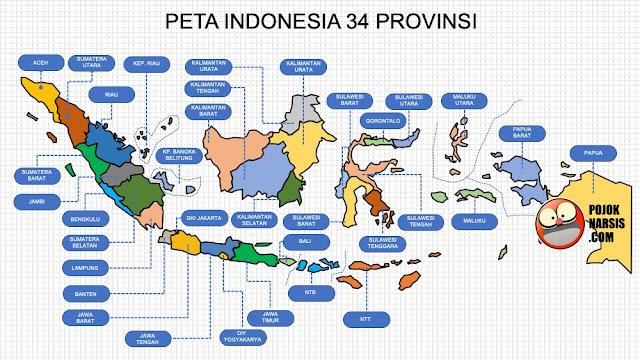 Peta Indonesia 34 Provinsi
