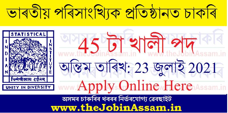 Indian Statistical Institute Recruitment: