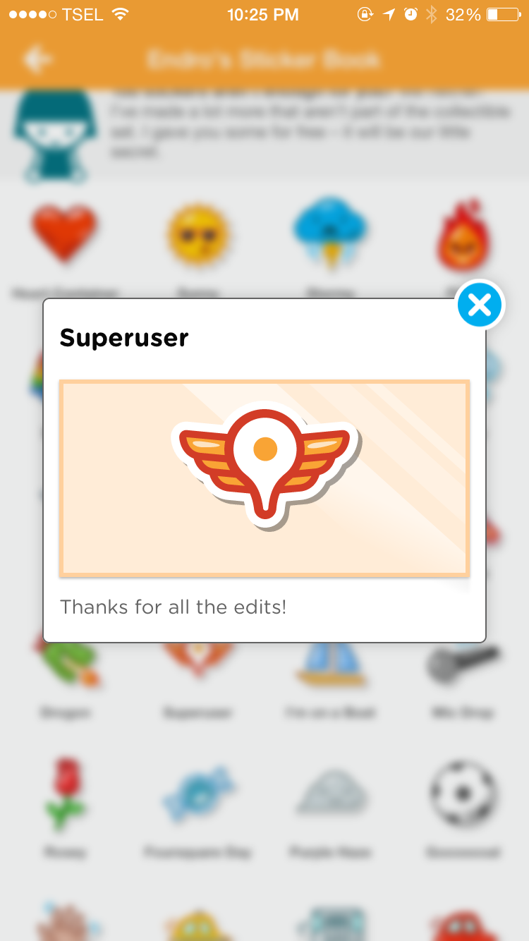 swarm stickers superuser foursquare