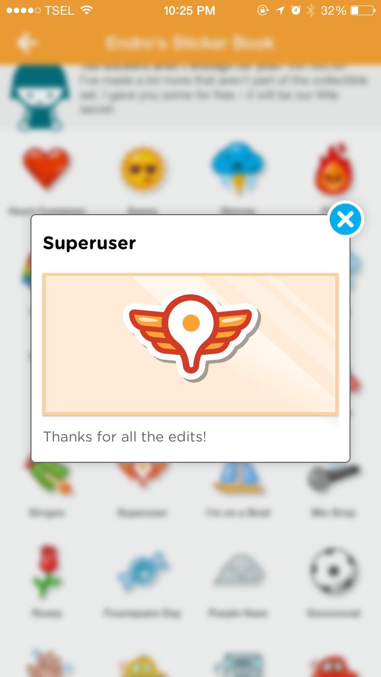 swarm stickers superuser foursquare