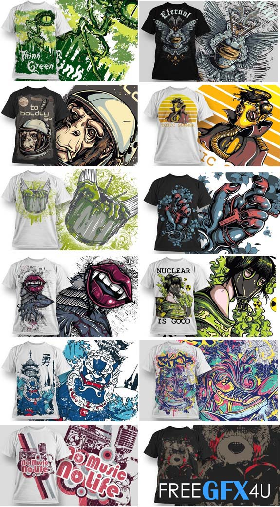 50 Vector Shirt Designs Collection