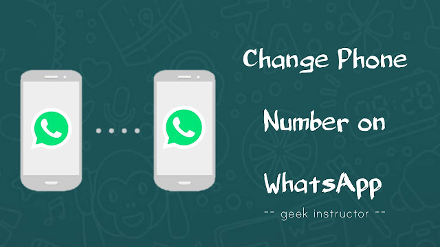 Change phone number on WhatsApp