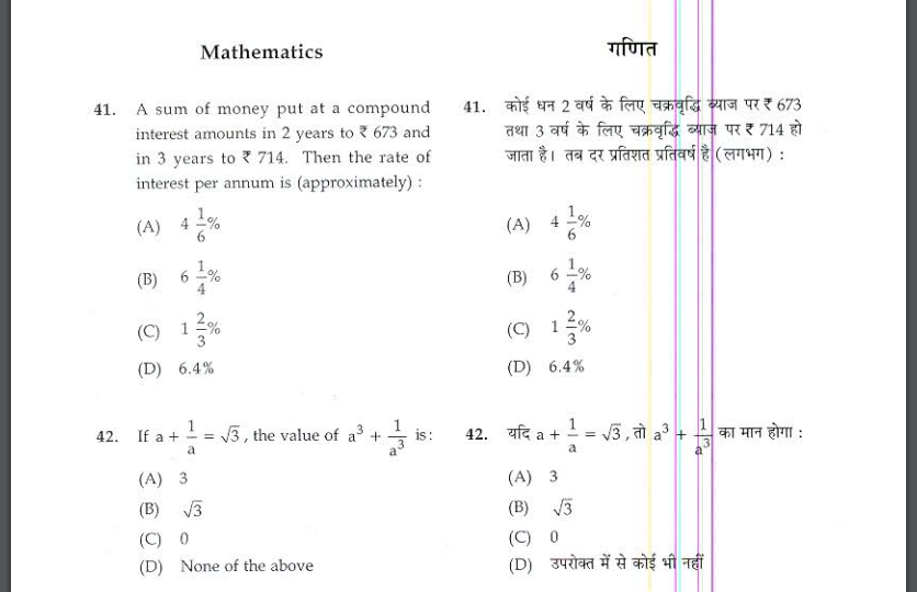 CG Mandi Nirikshak Previous Year  Question Paper and Syllabus 2021