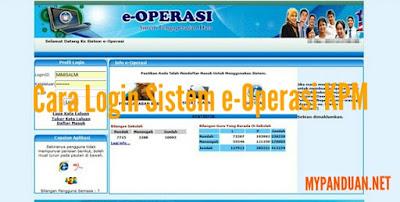 Cara Login Sistem e-Operasi KPM