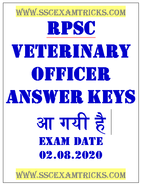 RPSC VO Answer Keys