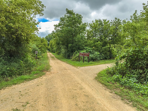 Intersection of the Badger State Trail and Sugar River State Trail