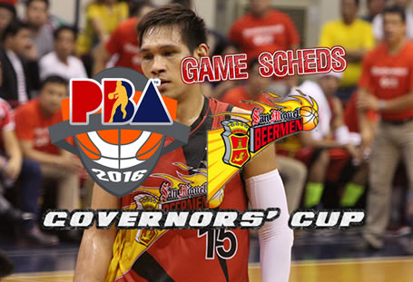 List of Games Schedules: San Miguel Beermen 2016 PBA Governors' Cup