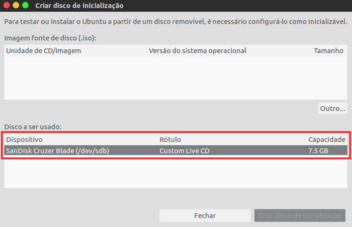 criar pendrive bootavel do ubuntu