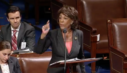 Maxine Waters to PA Rep: 'I Resent the Remark About Making America Great Again'