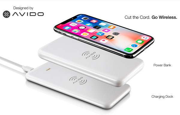 Avido launches WiBa, World's first power bank that wirelessly charges smartphones up to 2 times, then can be wirelessly charged itself