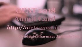 AICTE GPAT Admit Card 2018 | AICTE GPAT Hall ticket 2018 | AICTE GPAT Admit Card 2018 Download | AICTE GPAT Hall ticket 2018 Download | AICTE GPAT 2018 Admit Card download | AICTE GPAT Hall ticket download 2018